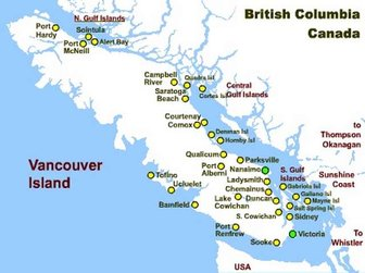 About Us - Us west coast vancouver island map